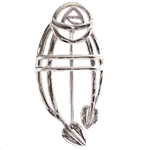 Charles Rennie Mackintosh Sterling Silver Ruchill Brooch 711