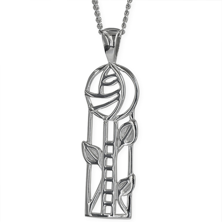 "Charles Rennie Mackintosh Necklace ""Windyhill"". Sterling Silver. Tarnish Resistant. Cairn 732"