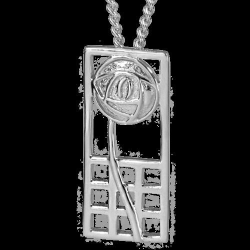 """Margaret"" silver necklace. Charles Rennie Mackintosh. Cairn pendant 740"