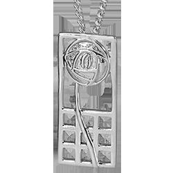 "Mackintosh pendant ""Margaret"" Sterling silver. 740"