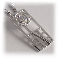 "Charles Rennie Mackintosh Silver Pendant ""Margaret"" 