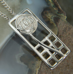 "Cairn 740 Silver Rennie Mackintosh Pendant - ""Margaret"". Tarnish Resistant. British Made. Rennie Mackintosh Jewellery."