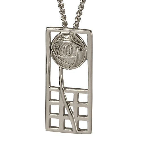 """Margaret"" silver necklace. Charles Rennie Mackintosh. Cairn pendant 740"