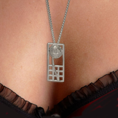 """Silver Charles Rennie Mackintosh Pendant """"Margaret"""" 740 Cairn"""