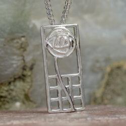 """Cairn 740 Silver Rennie Mackintosh Pendant - """"Margaret"""" 2"""