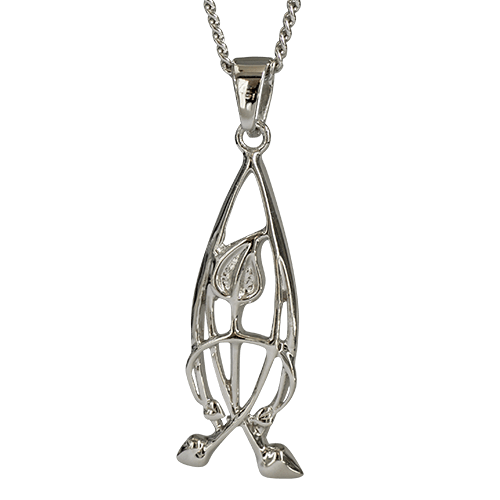 """Flourish"" silver necklace. Charles Rennie Mackintosh. Cairn pendant 752"