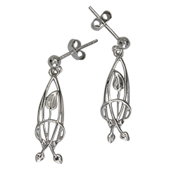 Charles Rennie Mackintosh earrings Flourish. Sterling silver. Cairn 754