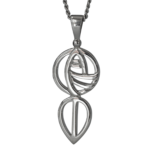 """Art School"" silver necklace. Charles Rennie Mackintosh. Cairn pendant 762"