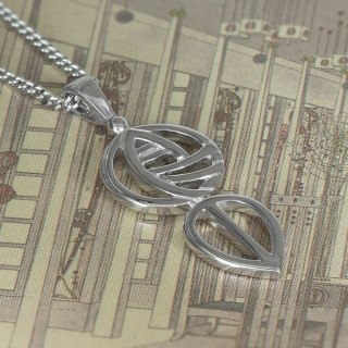 "Charles Rennie Mackintosh Necklace ""Art School"". Sterling Silver. Tarnish Resistant. Cairn 762"