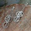 "Cairn 764 Silver Rennie Mackintosh Earrings - ""Art School"". Tarnish Resistant. British Made. Rennie Mackintosh Jewellery."