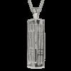 """Hillhead"" silver necklace. Charles Rennie Mackintosh. Cairn pendant 772"