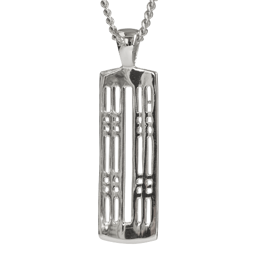 """Hillhead"" silver necklace. Charles Rennie Mackintosh. Cairn pendant 772"