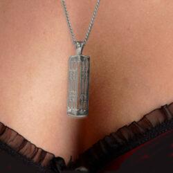 "Silver Charles Rennie Mackintosh Pendant ""Hillhead"" 772 Cairn"