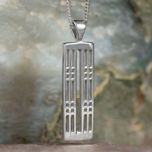 "Cairn 772 Silver Rennie Mackintosh Pendant - ""Hillhead"" 2"