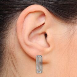 "Charles Rennie Mackintosh Earrings ""Hillhead"". Sterling Silver. Tarnish Resistant. Cairn 774"