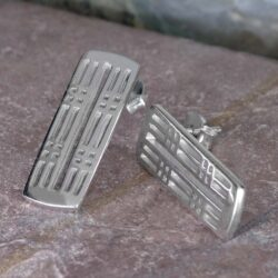 "Cairn 774 Silver Rennie Mackintosh Earrings ""Hillhead"". Tarnish Resistant."