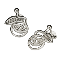 "Charles Rennie Mackintosh Stud Earrings ""Nouveau"". Sterling Silver. Tarnish Resistant. Cairn 793"