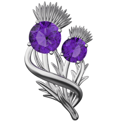 """Thistle brooch """"Appin"""""""