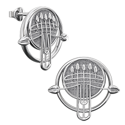 Charles Rennie Mackintosh earrings Pulpit. Sterling silver. Cairn 922