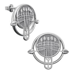 Charles Rennie Mackintosh earrings Pulpit. Sterling silver. Cairn 922 v3