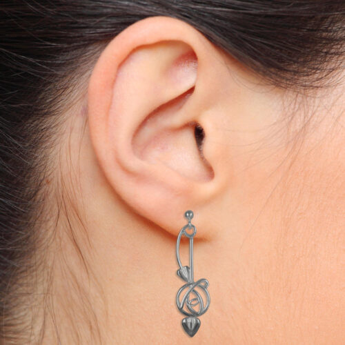 Ortak Charles Rennie Mackintosh Earrings Sterling Silver. DWO265 E1024