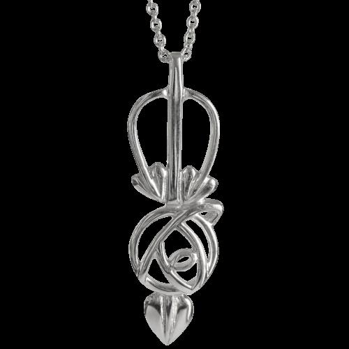 Charles Rennie Mackintosh Ortak Necklace. Sterling Silver. DWO912 P548