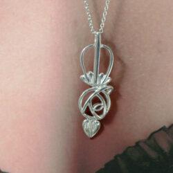 "DWO912 Ortak Sterling Silver Charles Rennie Mackintosh Pendant & Silver 18"" Chain"