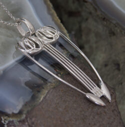 "DWO965 Stunning Sterling Silver Charles Rennie Mackintosh Pendant & Silver 18"" Chain"