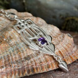 "HSH030 ""Glasgow Girls"" Silver Pendant Set With A Facetted Amethyst GP250/A 2"