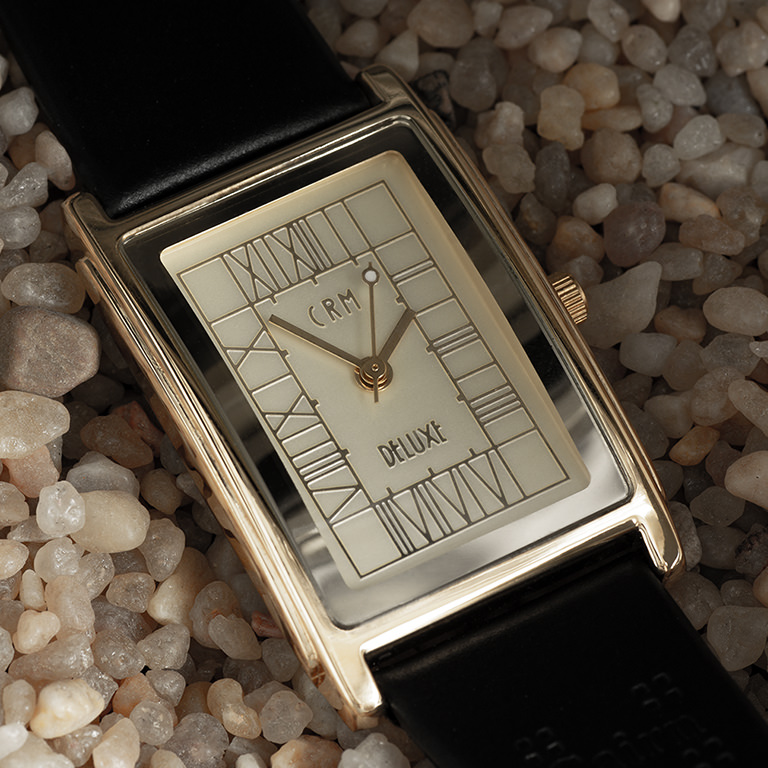 Charles Rennie Mackintosh Gold Plated Art Nouveau Man's Watch Cairn M63RGG