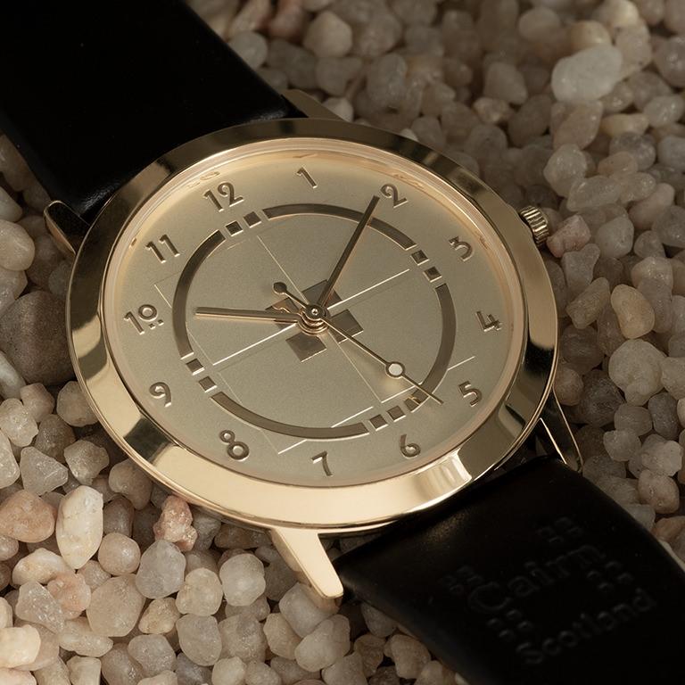 Charles Rennie Mackintosh Gold Plated Man's Watch Cairn M71GG