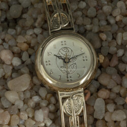 Charles Rennie Mackintosh Gold Plated Ladies Half Bangle M90G