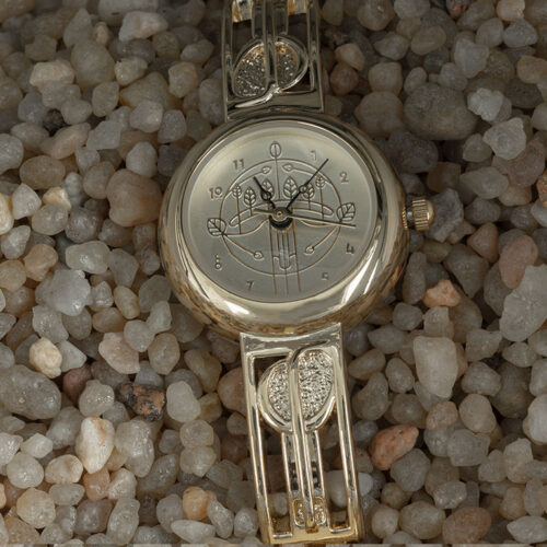 Charles Rennie Mackintosh Gold Plated Ladies Half Bangle Watch Cairn M92G