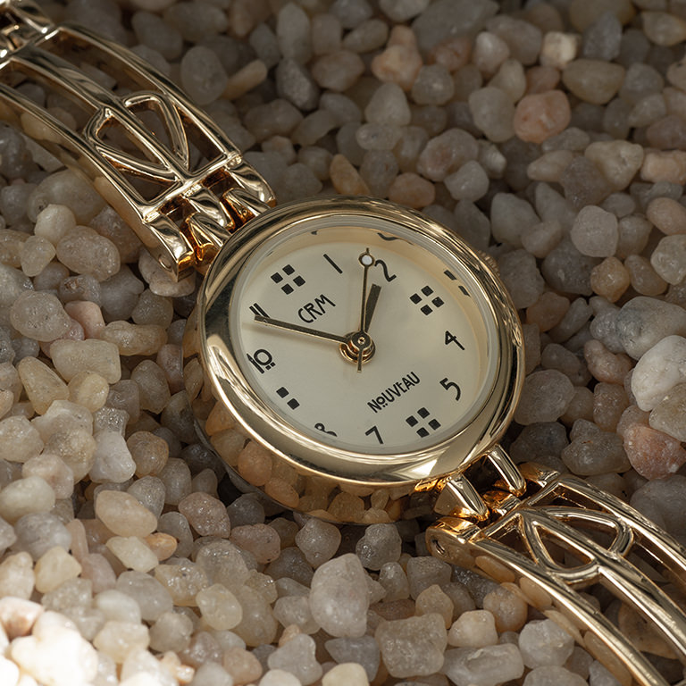 Charles Rennie Mackintosh Gold Plated Ladies Cocktail Watch Cairn M95CHG