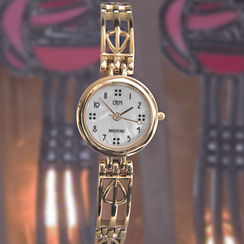 M95MG Charles Rennie Mackintosh Gold Plated Ladies Cocktail Watch Cairn