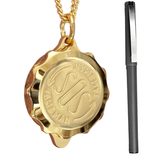 Gold Plated SOS Talisman Necklace & Pen Set ST42PEN